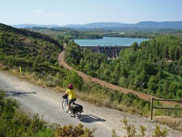 The Vía Verde de Ojos Negros, the longest of the many former railway lines in Spain that have been converted into bicycle and hiking paths.