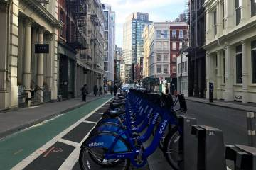 Una parada de City Bike, en Nueva York.