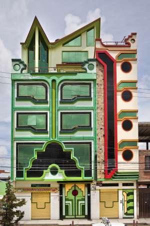 Uno de los 'cholets' de El Alto (Bolivia).