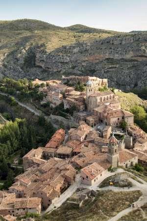 Vista del pueblo de Albarracín, en Teruel.
