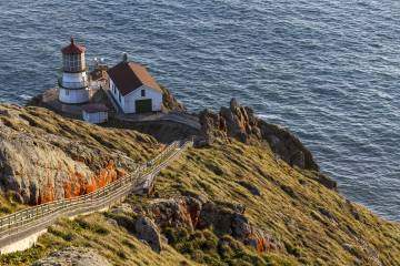 Vista del faro de Point Reyes, en California.