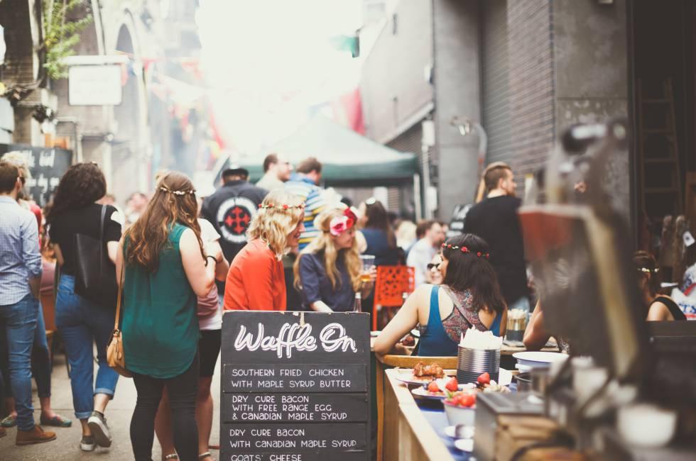 El paraíso de la comida callejera londinense