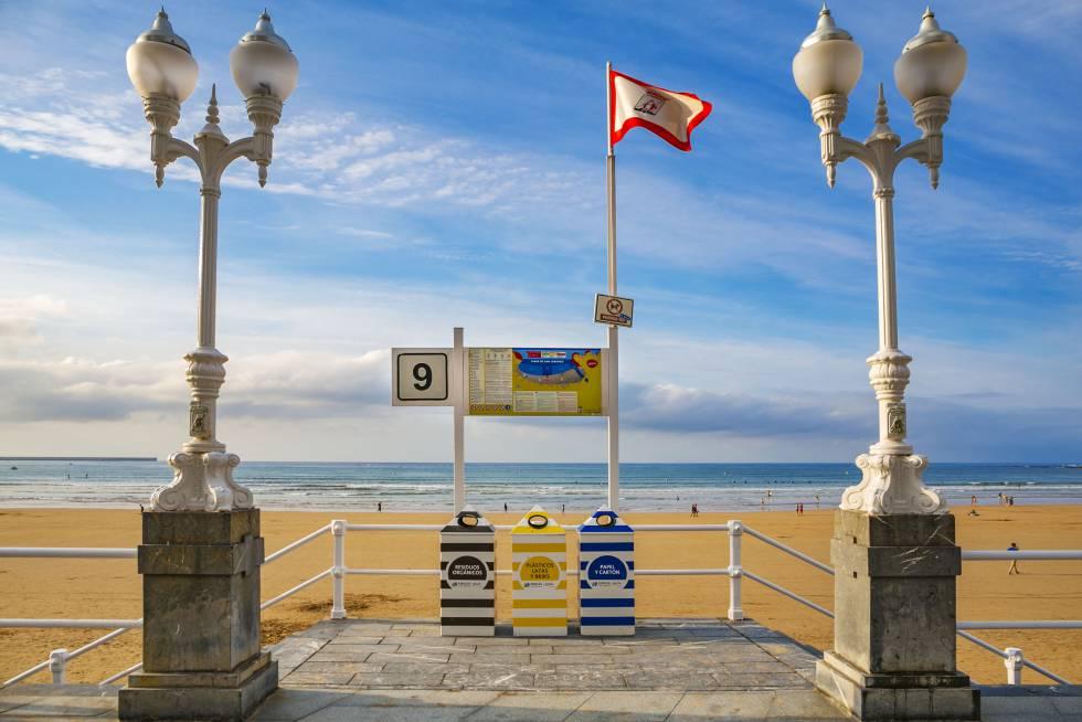 San Lorenzo, flechazo playero en Gijón
