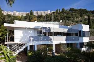 Exterior de la casa E-1027, en Roquebrune-Cap-Martin (Francia).