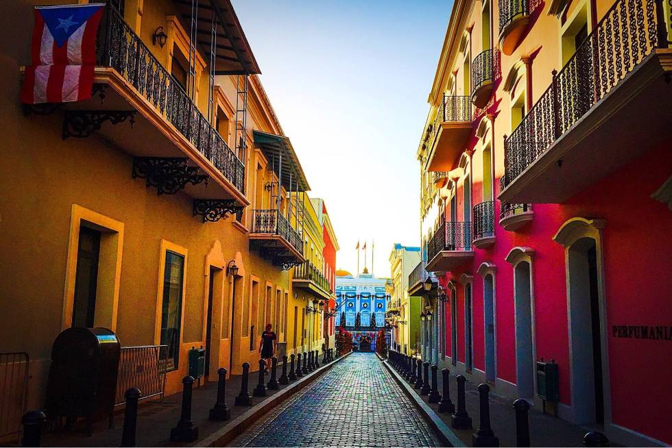 Una calle del centro histórico de San Juan de Puerto Rico.