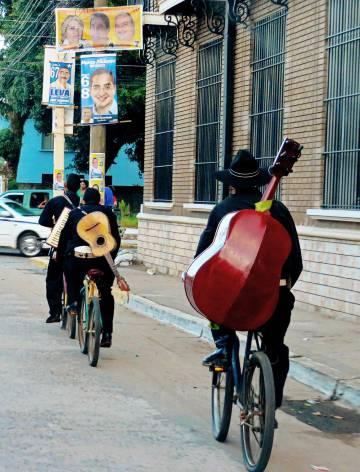 Una banda de músicos en La Ceiba (Honduras).