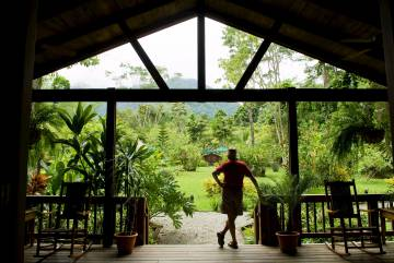 Lodge en el parque nacional de Pico Bonito, al norte de Honduras.