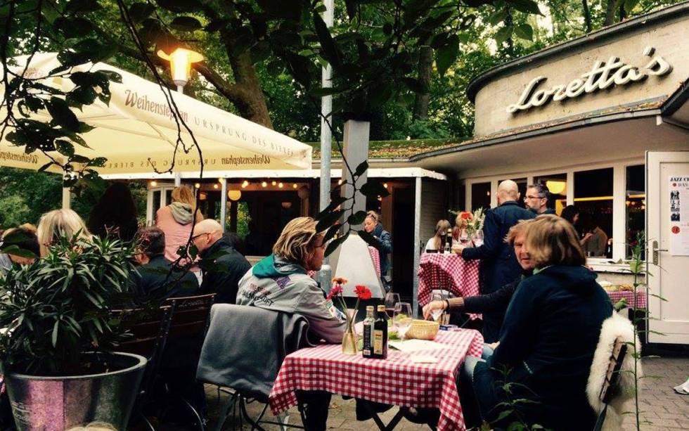 La terraza del restaurante Loretta's, en Hannover.