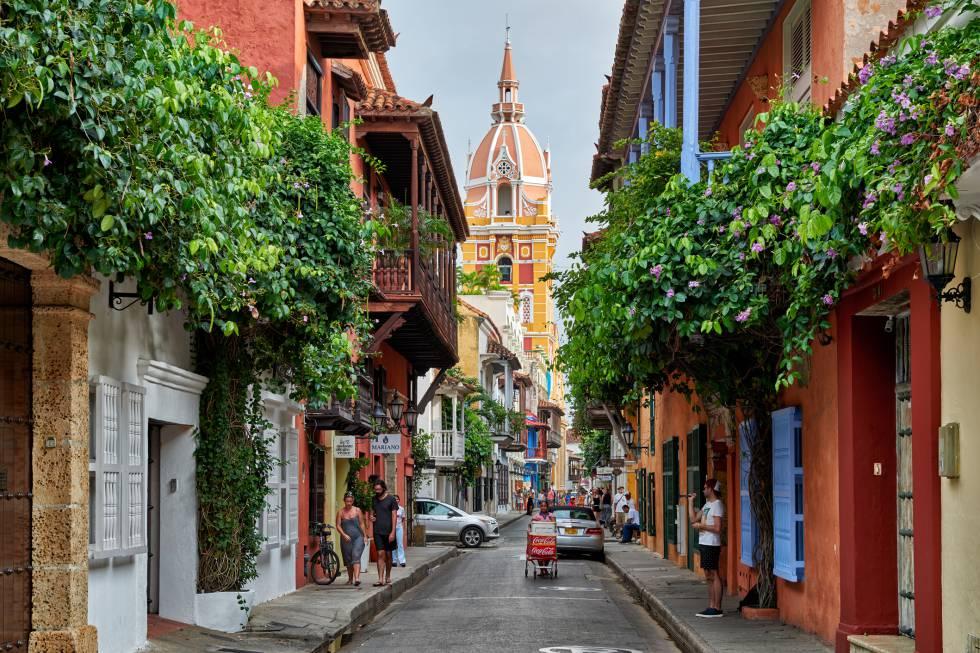 Calles de la ciudad de Cartagena de Indias, Colombia.
