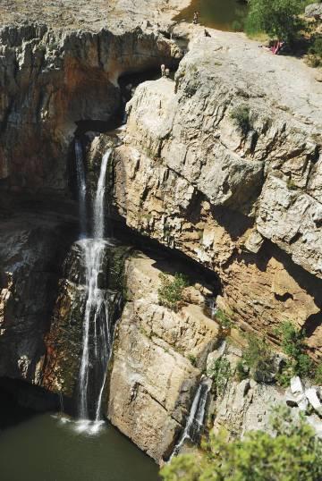 La cascada de La Cimbarra, en Jaén.