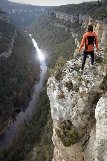 Mirador al cañón del Ebro, en el geoparque de Las Loras, entre Burgos y Palencia.