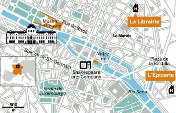 Lo último en París: dormir en una librería