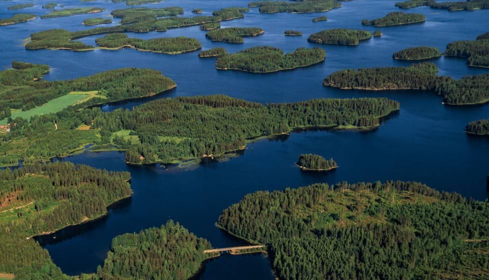 Lagos en Kuopio, en el interior de Finlandia.