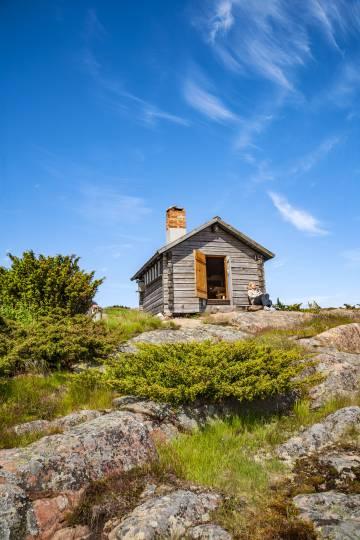 Una cabaña en la isla de Silverskär, en el archipiélago finlandés de Aland.
