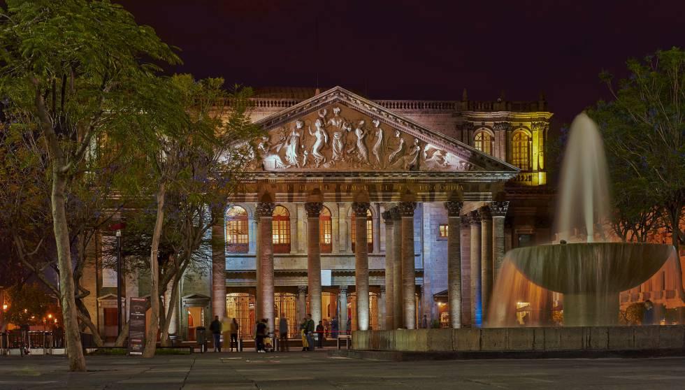 Exterior del teatro Degollado, en Guadalajara (México).
