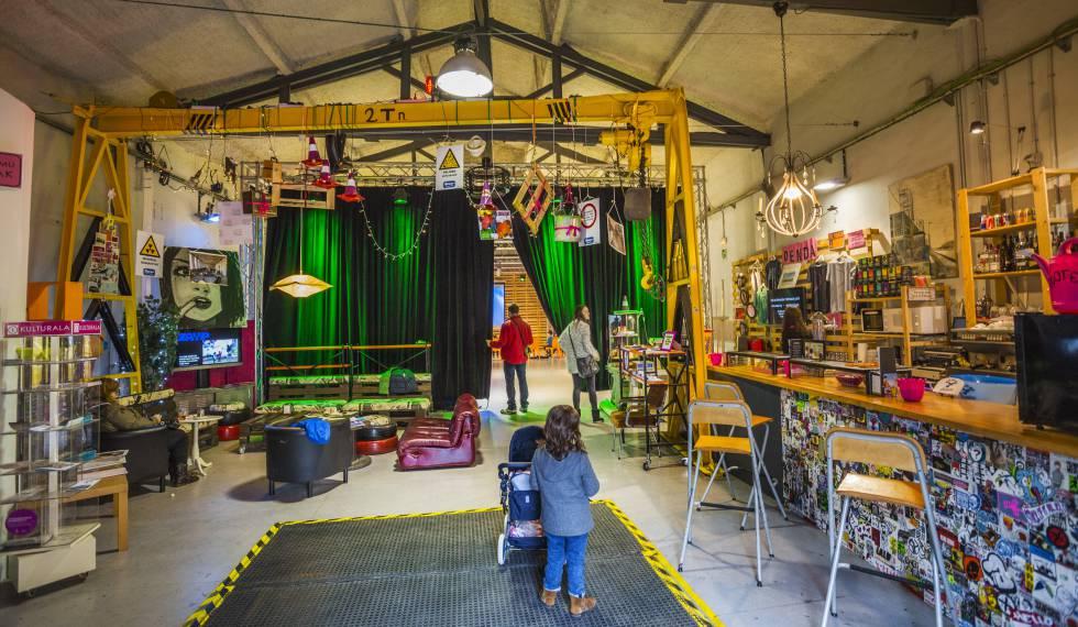 Espacio creativo ZAWP, en el barrio de Zorrotzaurre, en Bilbao.