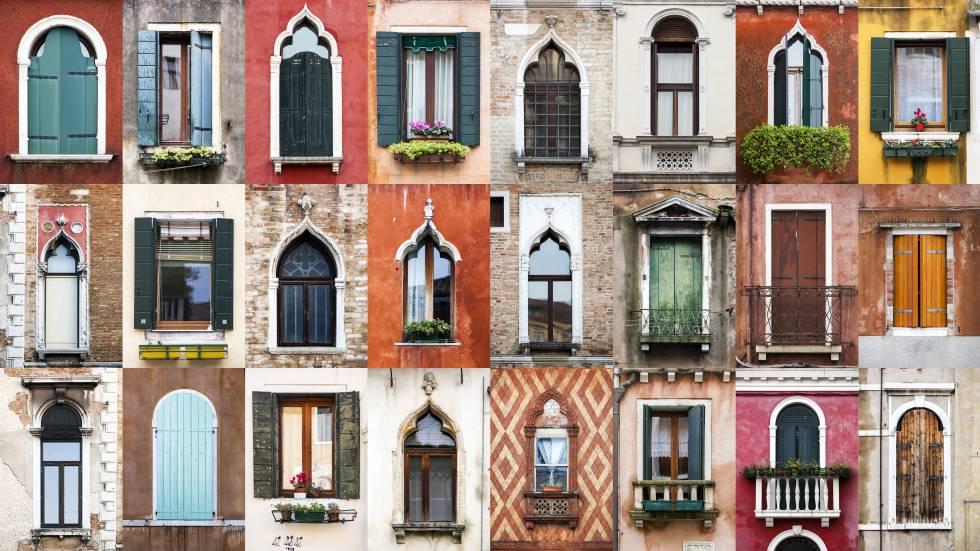 'Collage' da cidade de Veneza (Itália).