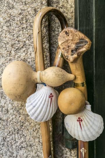'Souvenirs' para peregrinos em Santiago de Compostela.