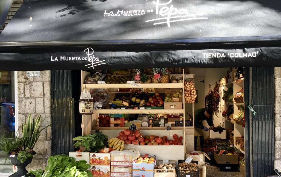 Colmado del restaurante La Huerta de Pepa, en Madrid.