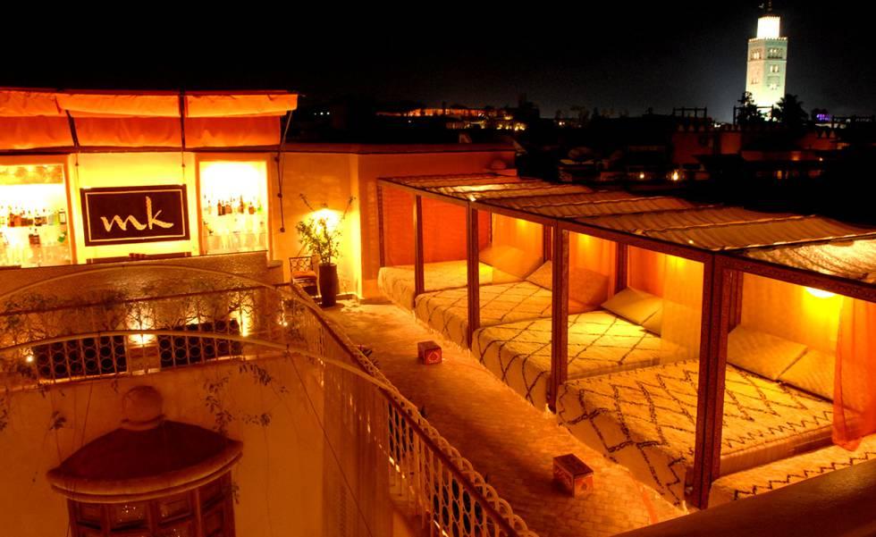Terraza del hotel Maison MK de Marraquech.
