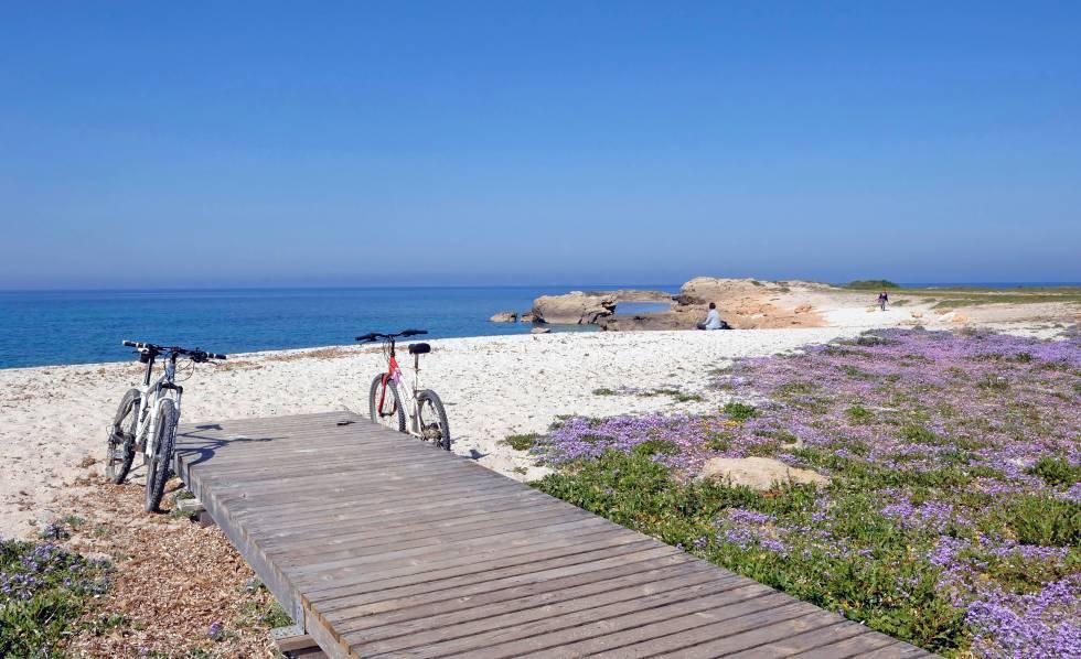 La spiaggia di Aruttas, in Sardegna.