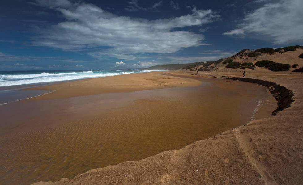 Spiaggia della Spiaggia di Piscinas, in Sardegna.