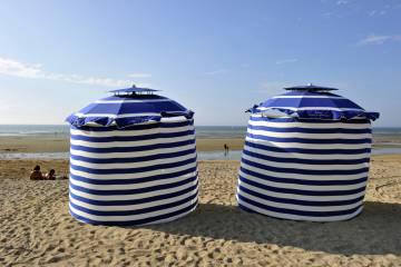 La playa de Cabourg, en Normandía (Francia).