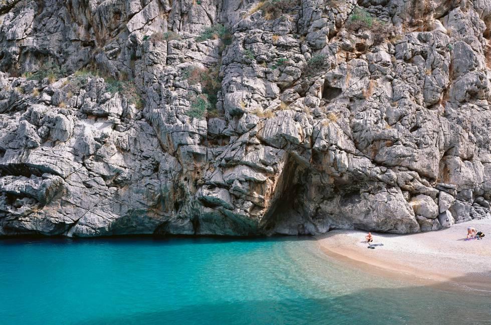 La cala del Torrent de Pareis, en la costa noroeste de Mallorca.
