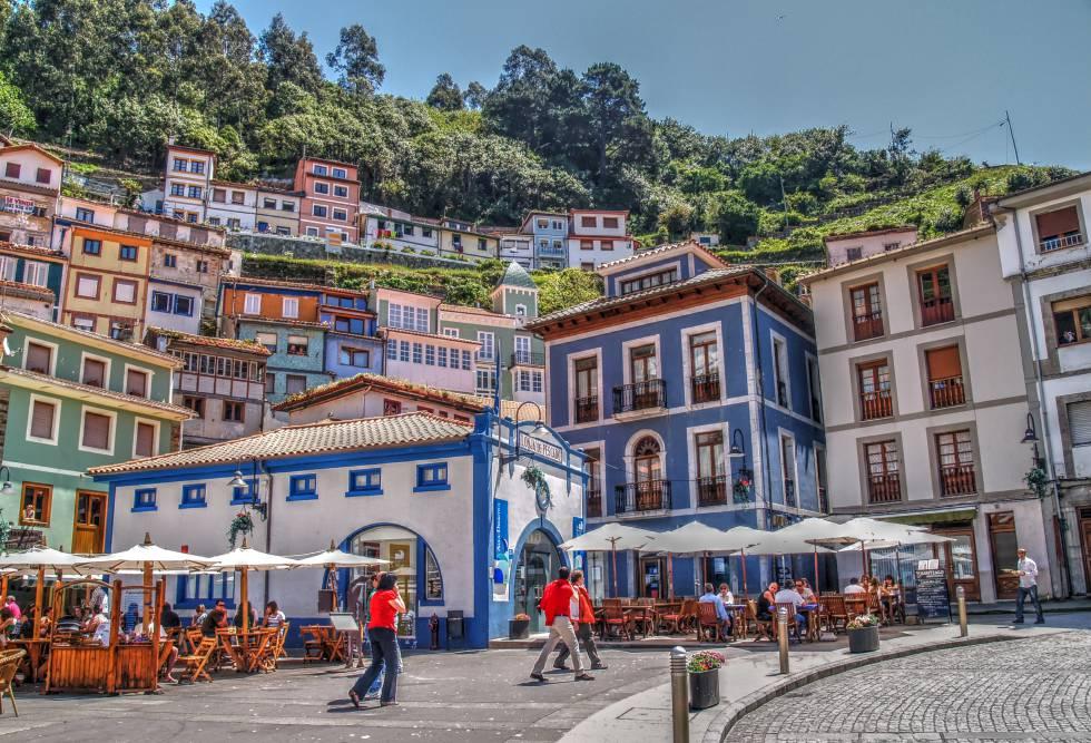 La villa marinera de Cudillero, en Asturias.