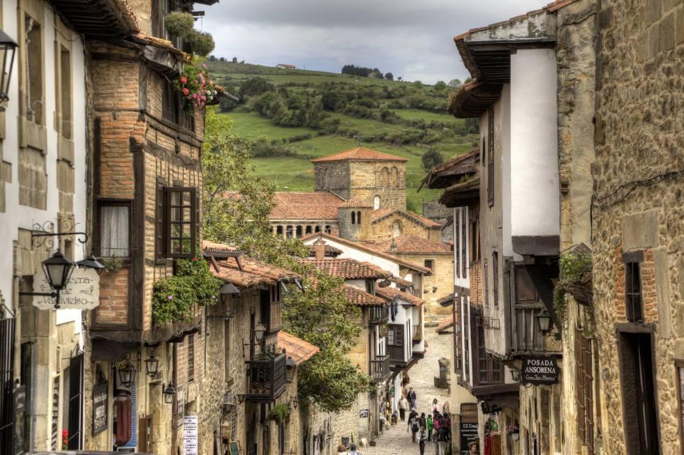 El pueblo de Santillana del Mar (Cantabria).