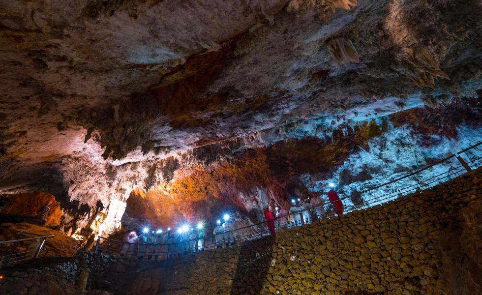 La cueva de El Soplao, en Cantabria.
