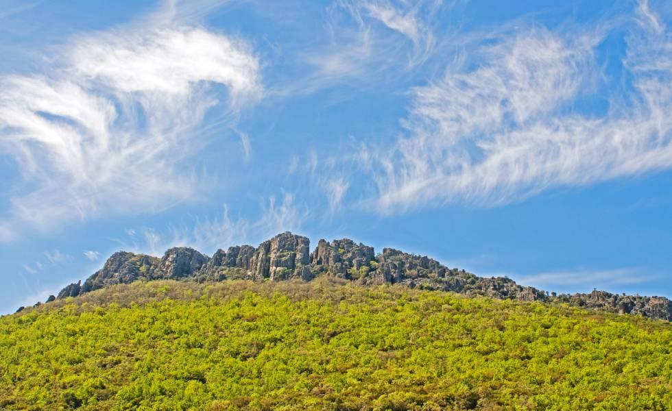 La sierra de las Villuercas, en el geoparque Villuercas-Ibores-Jara, en Cáceres.