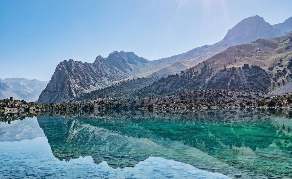 Lago Alaudin, en las montañas Fann (Tayikistán).