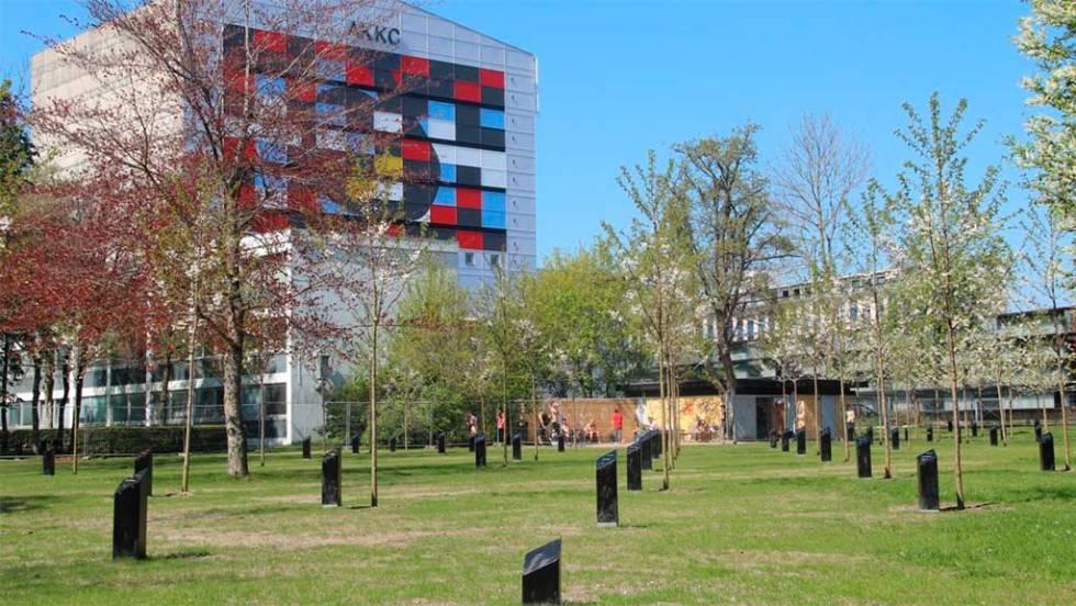 Parque de la música, dentro del Kildeparken, en Aalborg (Dinamarca).