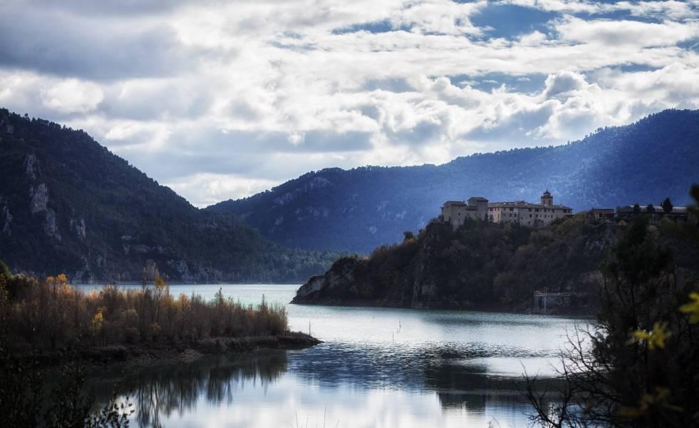 Vista de Ligüerre de Cinca (Huesca).