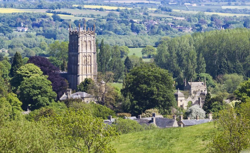 Torre de la iglesia de St James, en Chipping Campden (Inglaterra).