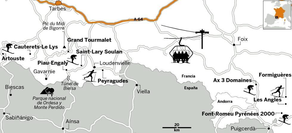 Mapa Estaciones Esqui España.Las 10 Mejores Estaciones Del Pirineo Frances El Viajero