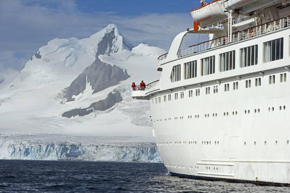 Panorámica de la isla Livingstone, en el archipiélago de las Shetland del Sur, en la Antártida.