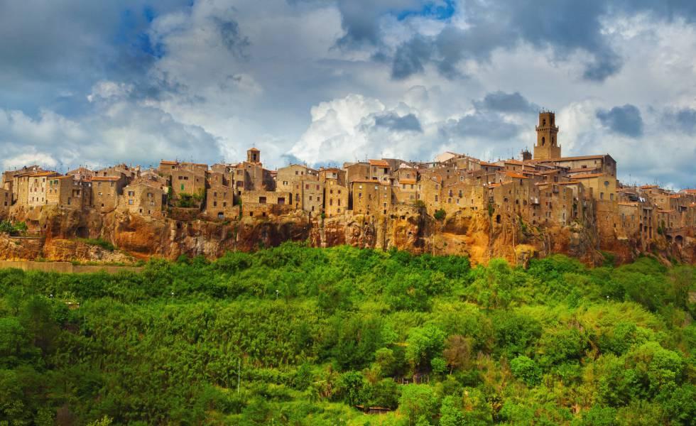 Pueblo de Pitigliano, en la provincia de Grosseto, en la Toscana.