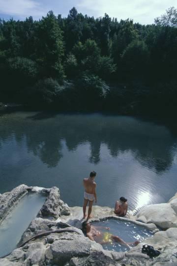 Baños termales de Petriolo, en la reserva natural de Basso Merse, cerca de Murlo.