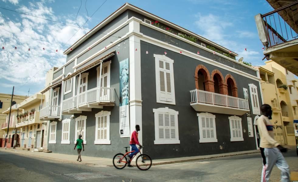Fachada del Museo de la Fotografía de Saint Louis (Senegal).