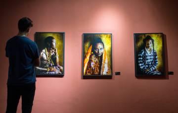 Sala del Museo de la Fotografía de Saint Louis (Senegal)