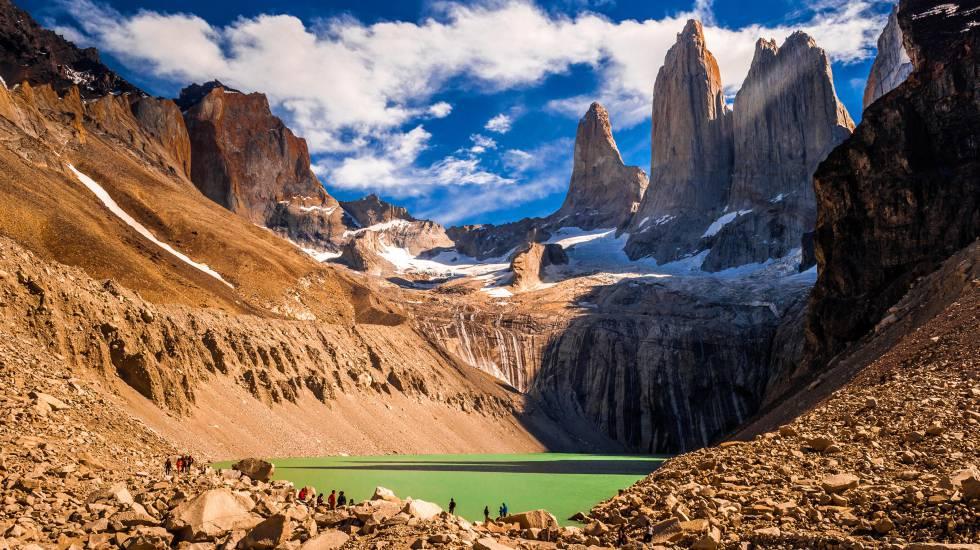 Panorámica de las Torres del Paine, en la Patagonia chilena.
