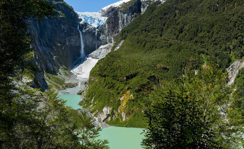 O Ventisquero Colgante, no Parque Nacional Queulat (Chile).