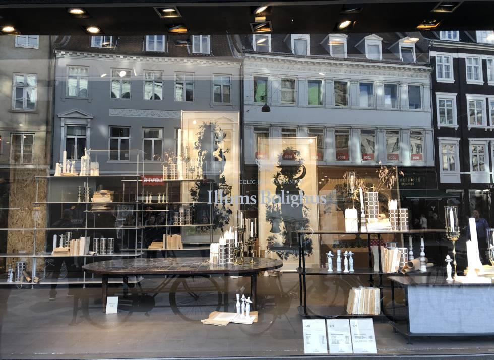 Escaparate de Illums Bolighus, una tienda de diseño en Copenhague.