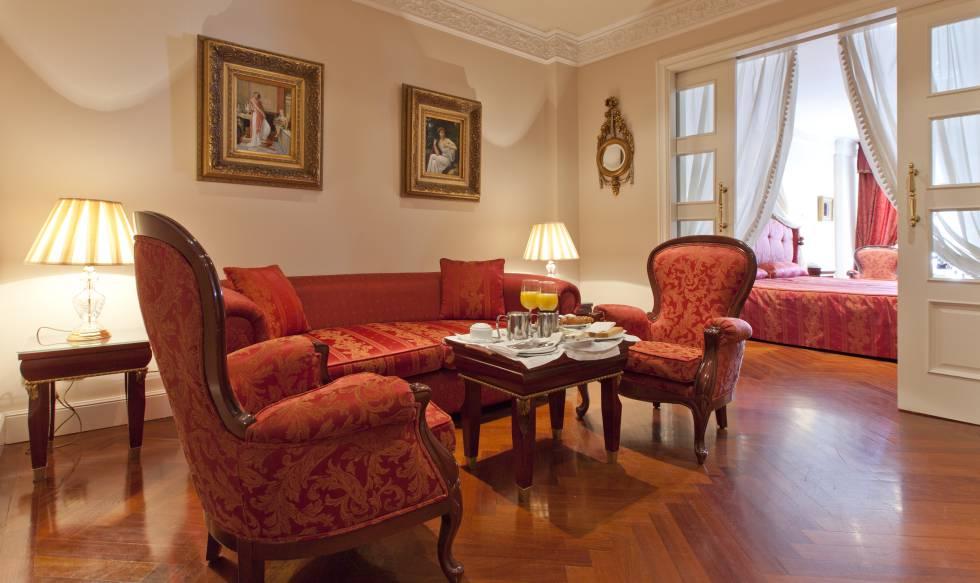 Una de las 'suites' del hotel Alameda Palace.