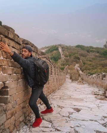 Un tramo sin restaurar de la muralla china en Jiankou (China).