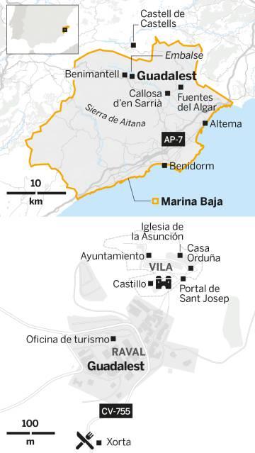 El Castell de Guadalest: a los pies de la torre enriscada