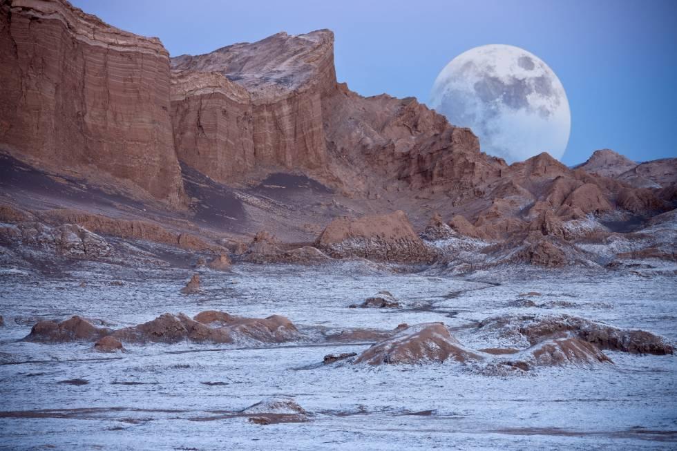 Valle de la Luna, en el desierto chileno de Atacama.