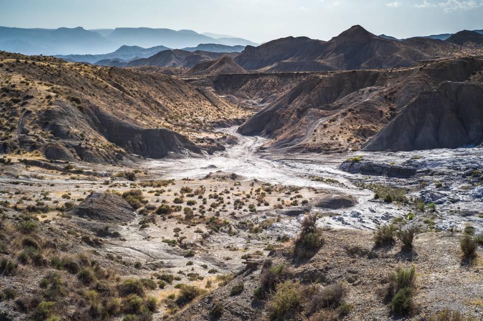 Desierto de Tabernas, en Almería.